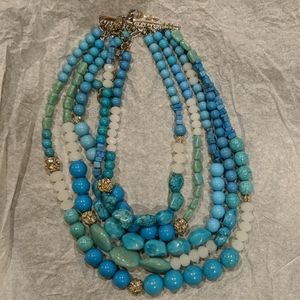 Chico's multi-strand beaded necklace